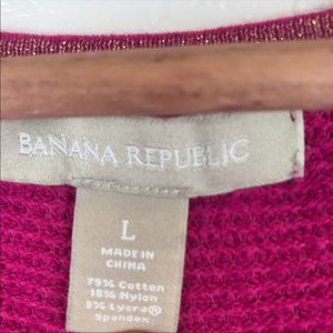 Banana Republic Sweaters - Banana Republic Pink V-Neck Knit Sweater Top